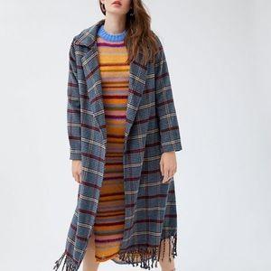 Frenchie Fringe Wrap Coat